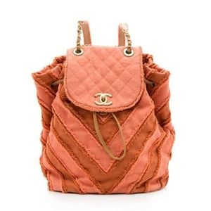 Chanel Orange Patchwork Cuba Backpack